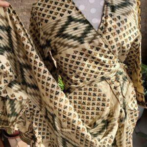 Vestido Wrap largo Gold