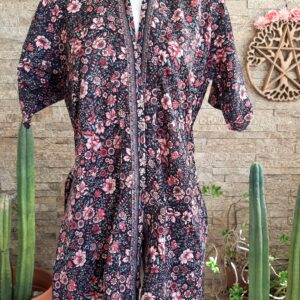 Kimono Seda Hortensia Corto