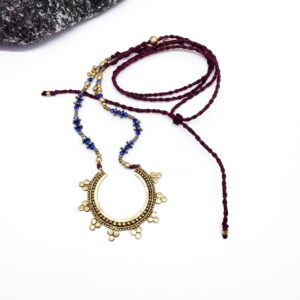 Collar Macramé Tribal Sun