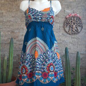 Vestido Mini Caleido Azul
