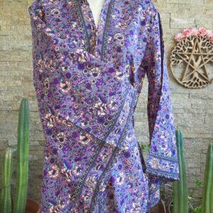 Kimono Seda Lavanda