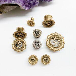 Aum Lotus Brass Plug