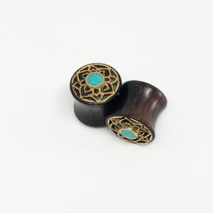 Turquoise Flower 12mm