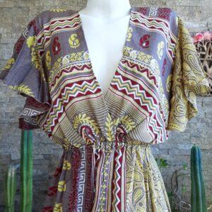 Vestido Boho Avellana