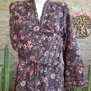 Kimono Seda Hortensia