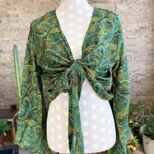 Blusa Seda Verde