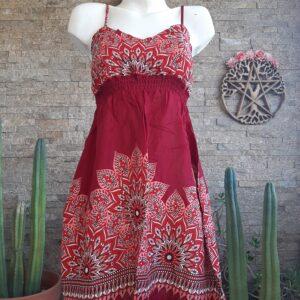 Vestido Mini Mandala Rojo
