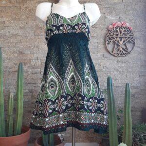 Vestido Mini Peacock Esmeralda