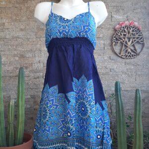 Vestido Mini Mandala Azul