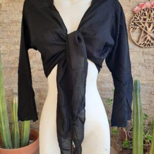 Blusa Algodón Negra