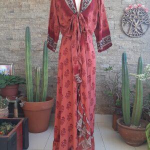 Vestido Wrap largo Rojo