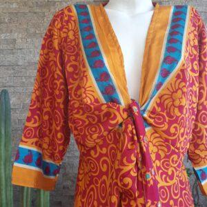 Vestido Wrap largo Naranjo