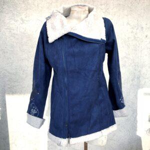 Abrigo Fleece Azul