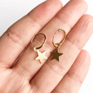 Mini Hoop Star Golden