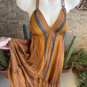 Vestido Seda Classic Maya
