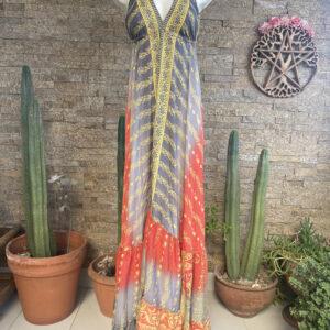 Vestido Seda Classic Roma