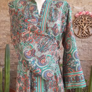 Kimono Seda Green Pasley
